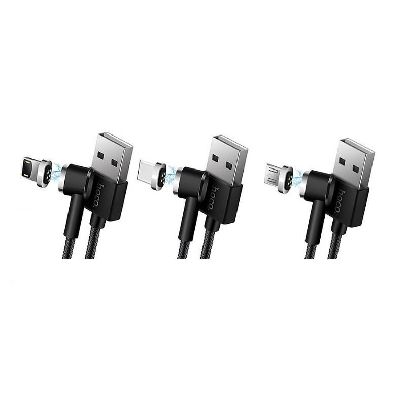 Hoco U20 L型磁吸充電數據線 [3款]