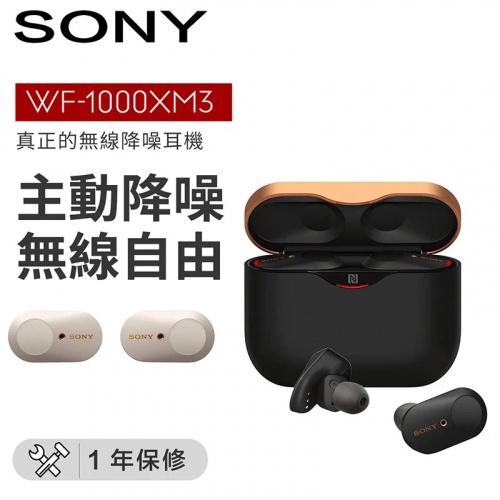 Sony WF-1000XM3 真無線降噪耳機 [黑色]