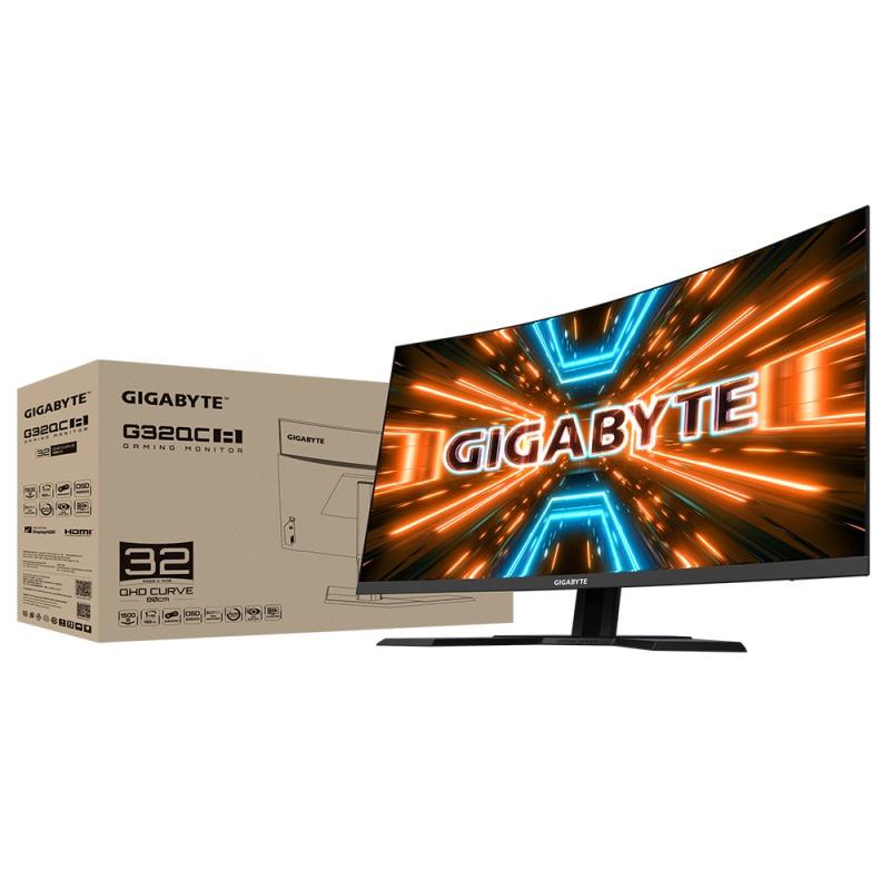 """GIGABYTE 32"""" 2K QHD 165Hz 曲面電競螢幕 G32QC A"""