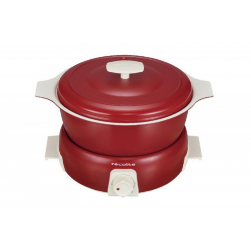 recolte RPF-2(R) Pot Duo Tanto日式小電鍋 [紅色] (獨家再送沐印天然消毒噴霧 50ml) 【恒生限定】