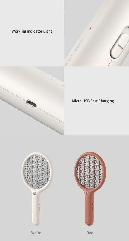 LED便攜式迷你USB電蚊拍驅蚊器 (白色)
