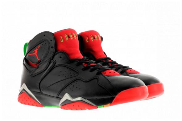 Nike Air Jordan 7 GS 女裝鞋 [黑紅色]