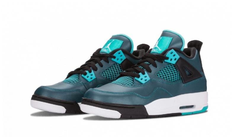 Nike Air Jordan 4 GS 女裝鞋 [湖水藍色]