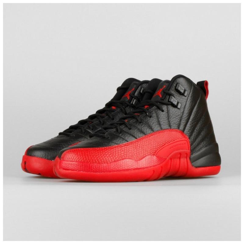 Nike Air Jordan 12 GS 女裝鞋 [黑紅色]