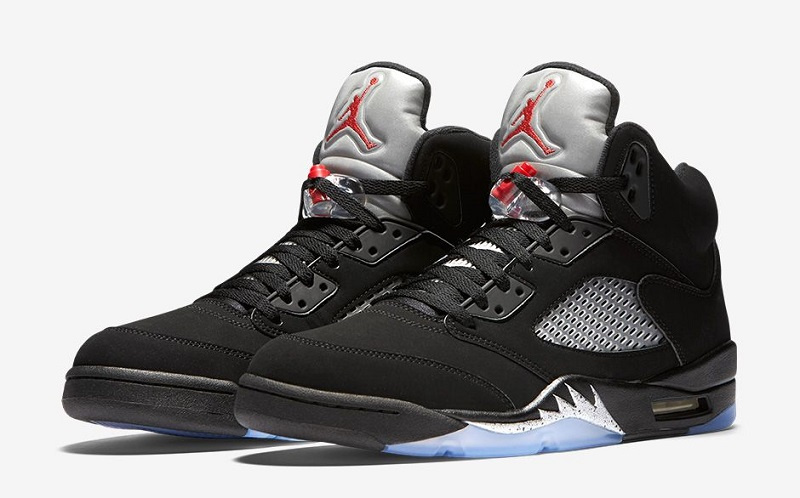 Nike Air Jordan 5 Retro 女裝鞋 [黑色]