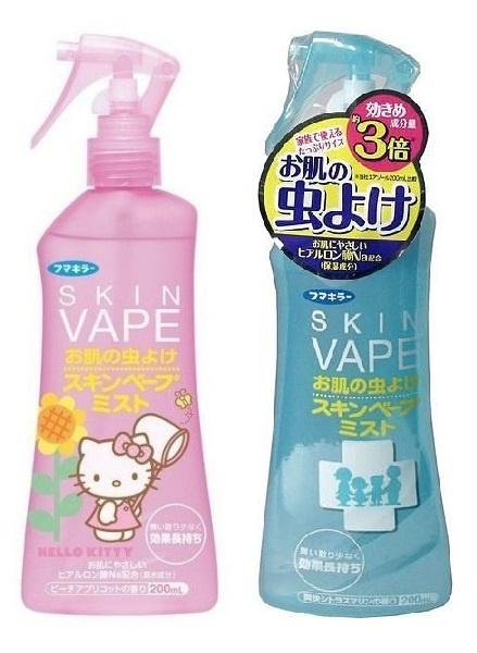 日本直送 KITTY Skin Vape 驅蚊止汗噴霧 200mL [2款氣味]