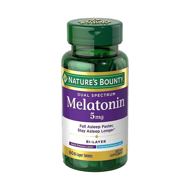 Nature's Bounty Dual Spectrum Bi-Layer Melatonin 5 mg 60 Tablets