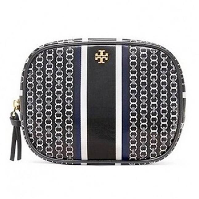 Tory Burch GEMINI LINK COSMETIC CASE 化妝包 (黑色) TB34399-884