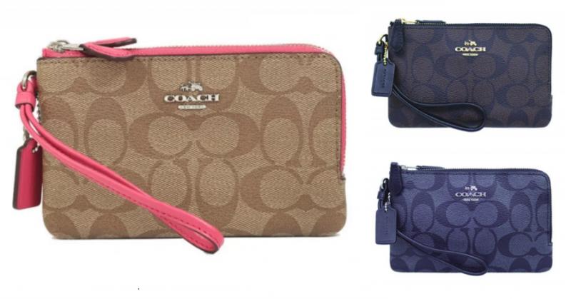 Coach L型雙拉鏈皮革手拿包 (F87591) [3色]