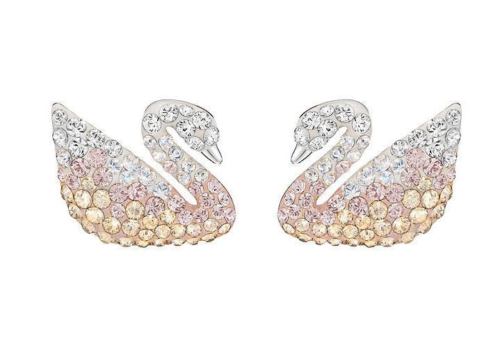 Swarovski Swan 穿孔珍珠耳環 (5215037)
