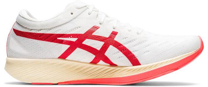 Womens Asics Metaracer 'White Sunrise Red' White/Sunrise Red女子 WMNS跑步鞋/運動鞋 (1012A580-100) 海外預訂