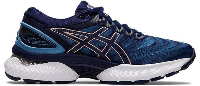 Womens Asics Gel Nimbus 22 Wide 'Grey Floss' Grey Floss/Peacoat女子 WMNS跑步鞋/運動鞋 (1012A586-401) 海外預訂