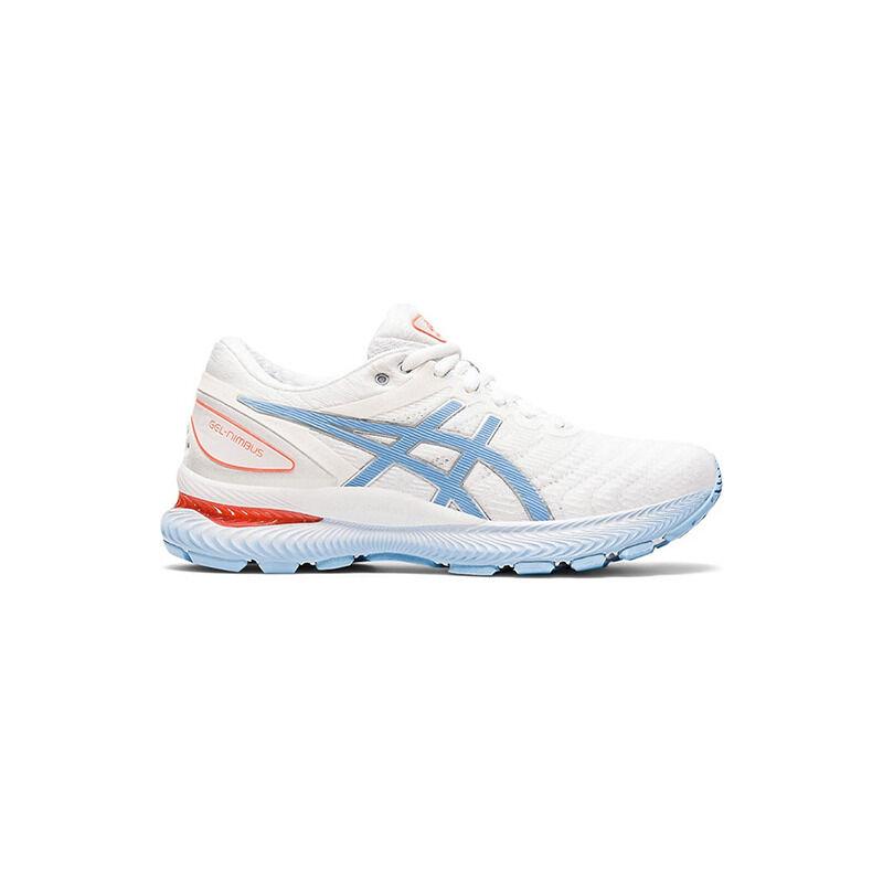 Womens Asics Gel Nimbus 22 'White Blue Bliss' White/Blue Bliss女子 WMNS跑步鞋/運動鞋 (1012A587-103) 海外預訂