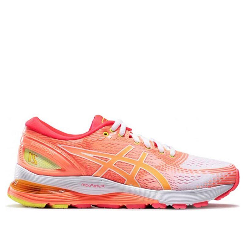 Womens Asics Gel Nimbus 21 'Sun Coral' White/Sun Coral女子 WMNS跑步鞋/運動鞋 (1012A611-100) 海外預訂