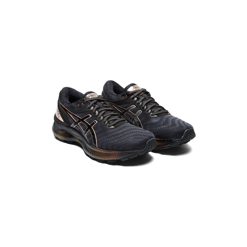 Womens Asics Gel Nimbus 22 Platinum 'Rose Gold' Black/Rose Gold女子 WMNS跑步鞋/運動鞋 (1012A664-001) 海外預訂