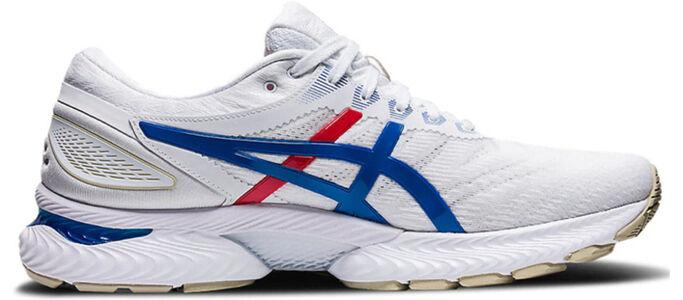 Womens Asics Gel Nimbus 22 'Retro Tokyo' White/Electric Blue/White女子 WMNS跑步鞋/運動鞋 (1012A665-100) 海外預訂