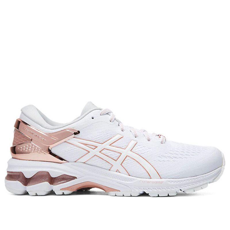 Womens Asics Gel Kayano 26 Platinum 'Rose Gold' White/Rose Gold女子 WMNS跑步鞋/運動鞋 (1012A749-100) 海外預訂