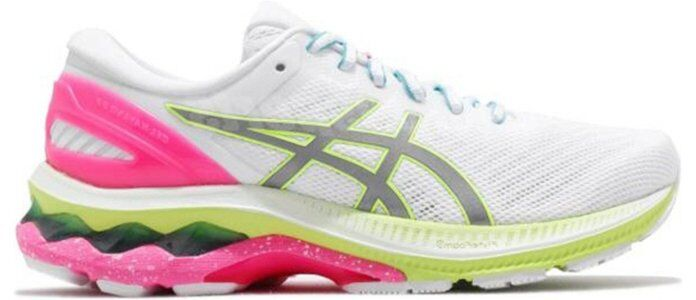Womens Asics Gel Kayano 27 Lite Show 'Colorful Sole' White/Pure Silver女子 WMNS跑步鞋/運動鞋 (1012A761-100) 海外預訂