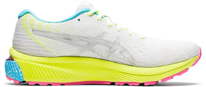 Womens Asics Gel Nimbus 22 Lite Show 'Colorful Sole' White/Pure Silver女子 WMNS跑步鞋/運動鞋 (1012A945-100) 海外預訂