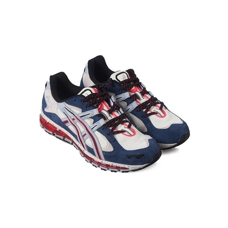 Asics Gel Kayano 5 360 'Cream Navy' Cream/Piedmont Grey/Navy/Red 跑步鞋/運動鞋 (1021A157-100) 海外預訂