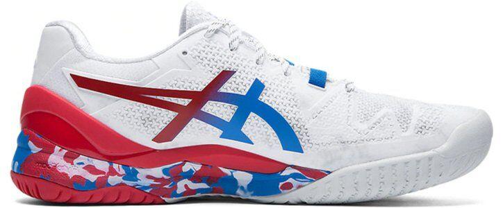Asics Gel Resolution 8 L.E. 'Retro Tokyo' White/Electric Blue/Red 跑步鞋/運動鞋 (1041A111-100) 海外預訂