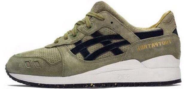 Asics Footpatrol x Gel Lyte 3 'Squad' Olive/Olive 跑步鞋/運動鞋 (H51RK-8686) 海外預訂