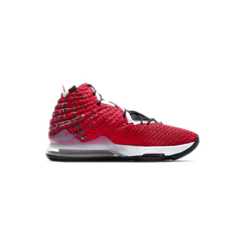 Nike LeBron 17 'Air Max Uptempo' University Red/White/Black 籃球鞋/運動鞋 (BQ3177-601) 海外預訂