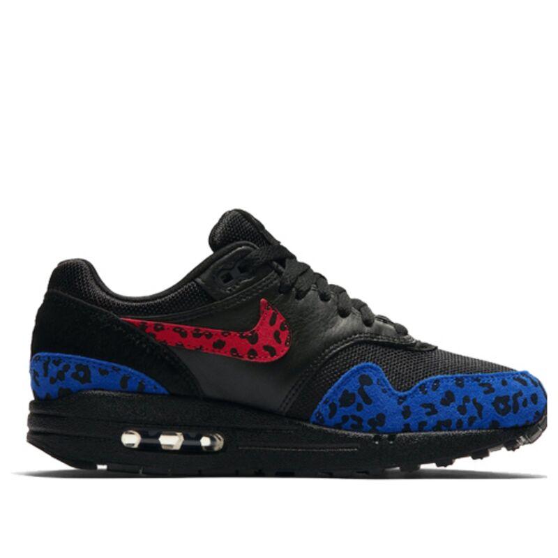 Nike Womens女子 WMNSAir Max 1 Premium 'Leopard Pack' Black/Habanero Red/Racer Blue 跑步鞋/運動鞋 (BV1977-001) 海外預訂