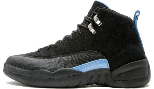 Air Jordan 12 Retro 'Nubuck' 2009 Black/White-University Blue 籃球鞋/運動鞋 (130690-018) 海外預訂