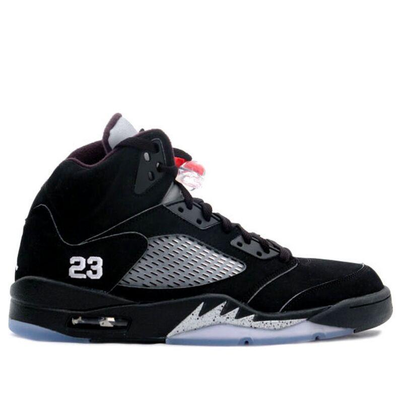 Air Jordan 5 Retro 'Metallic' 2007 Black/Metallic Silver-Fire Red 籃球鞋/運動鞋 (136027-004) 海外預訂