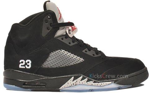 Air Jordan 5 Retro Black Varsity Red Silver 籃球鞋/運動鞋 (136027-010) 海外預訂
