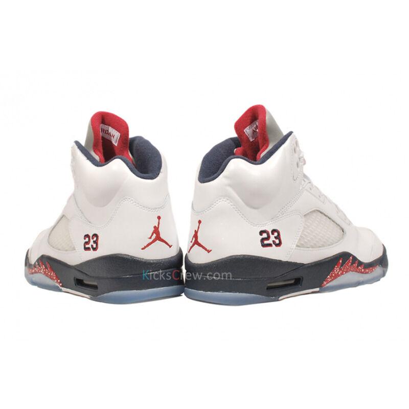 Air Jordan 5 Retro White Midnight Navy 籃球鞋/運動鞋 (136027-103) 海外預訂