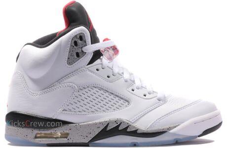Air Jordan 5 Retro White Cement 籃球鞋/運動鞋 (136027-104) 海外預訂