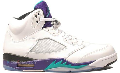 Price本週限時優惠 Air Jordan 5 Retro Grape 籃球鞋/運動鞋 (136027-108) 海外預訂