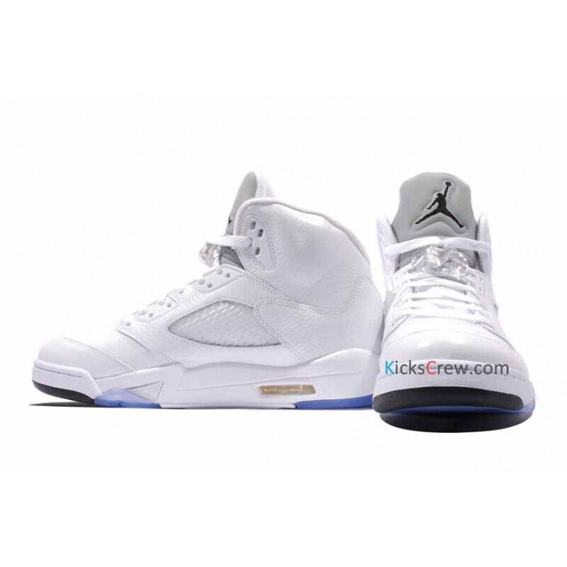 Air Jordan 5 Retro White Metallic Silver 籃球鞋/運動鞋 (136027-130) 海外預訂