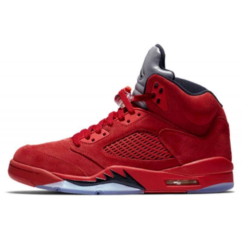 Air Jordan 5 Retro Flight Suit - Red Suede 籃球鞋/運動鞋 (136027-602) 海外預訂