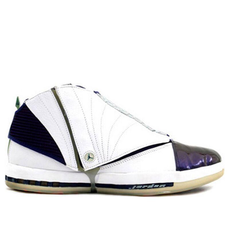 Air Jordan 16 OG 'Midnight Navy' White/Midnight Navy/Silver 籃球鞋/運動鞋 (136059-141) 海外預訂