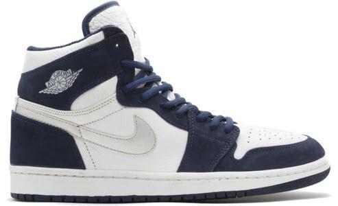 Air Jordan 1 Retro Addition 'Metallic' 2001 White/Metallic Silver-Midnight Navy 籃球鞋/運動鞋 (136060-101)