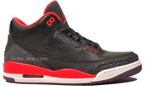 Air Jordan 3 Retro Bright Crimson 籃球鞋/運動鞋 (136064-005) 海外預訂