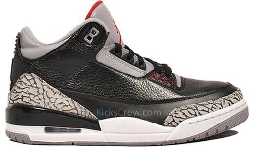Air Jordan 3 Retro Black Cement 籃球鞋/運動鞋 (136064-010) 海外預訂