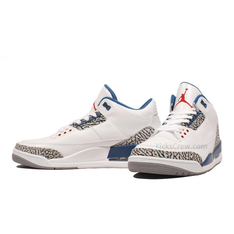 Air Jordan 3 Retro True Blue 籃球鞋/運動鞋 (136064-104) 海外預訂
