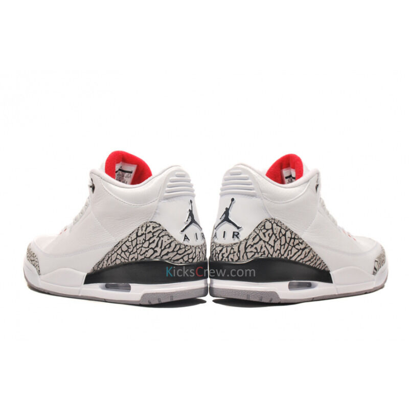 Air Jordan 3 Retro White Cement Grey 籃球鞋/運動鞋 (136064-105) 海外預訂