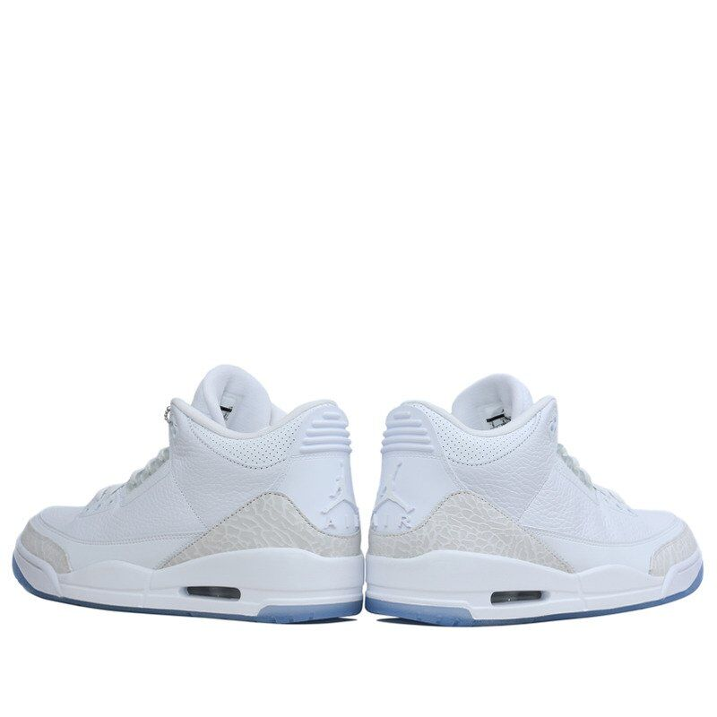 Air Jordan 3 Retro Pure White 籃球鞋/運動鞋 (136064-111) 海外預訂