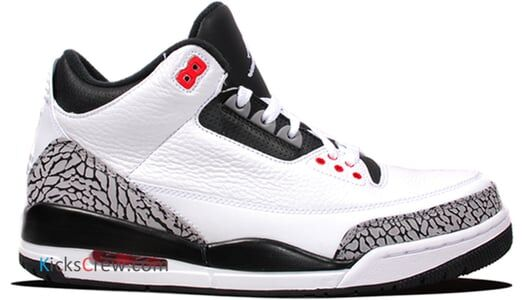 Air Jordan 3 Retro Infrared 23 籃球鞋/運動鞋 (136064-123) 海外預訂