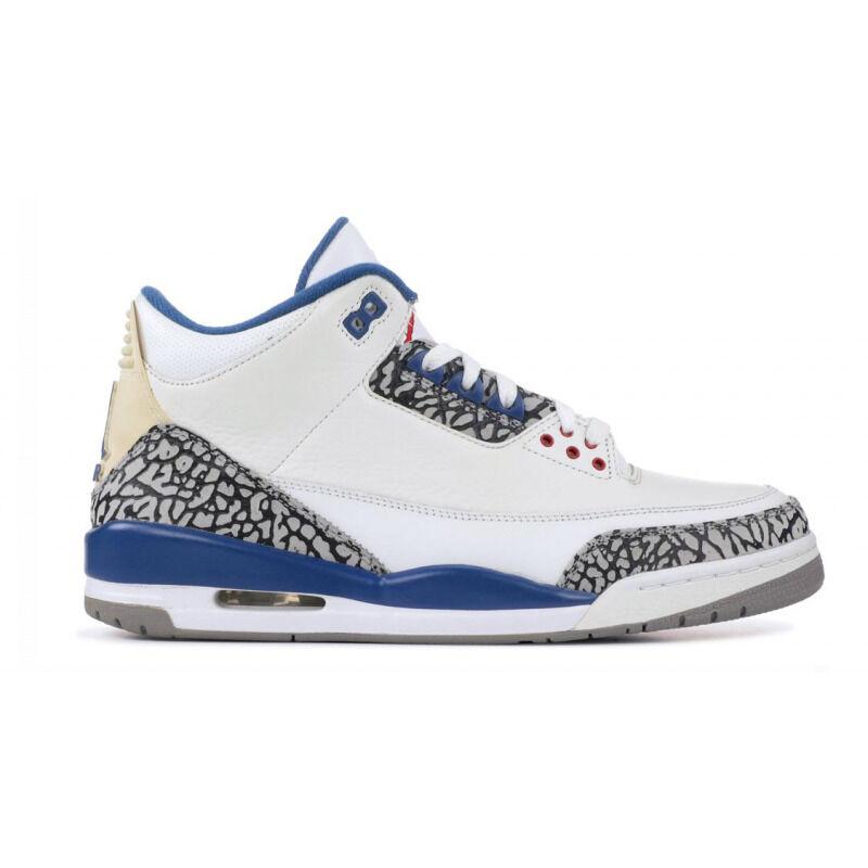 Air Jordan 3 Retro 'True Blue' 2001 White/True Blue 籃球鞋/運動鞋 (136064-141) 海外預訂