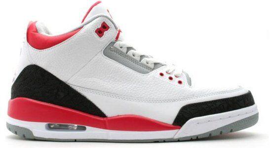 Air Jordan 3 Retro 'Fire Red' 2007 White/Fire Red-Cement Grey 籃球鞋/運動鞋 (136064-161) 海外預訂