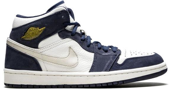 Air Jordan 1 Retro + 'Midnight Navy' White/Metallic Silver-Midnight Navy 籃球鞋/運動鞋 (136065-101) 海外預訂