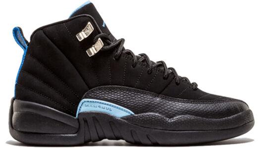 Air Jordan 12 Retro'Nubuck' GS Black/White-University Blue 籃球鞋/運動鞋 (153265-018) 海外預訂
