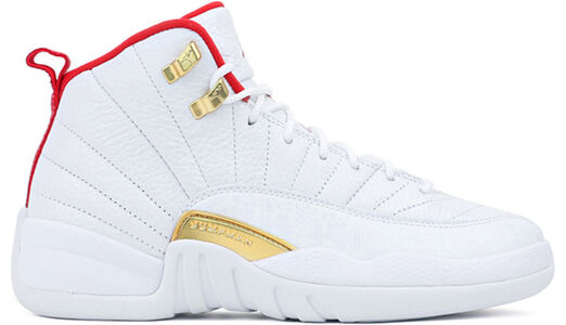 Air Jordan 12 Retro GS FIBA - White University Red 籃球鞋/運動鞋 (153265-107) 海外預訂