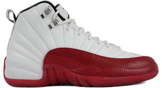 Air Jordan 12 Retro GS 'Cherry' 2009 White/Black-Varsity Red 籃球鞋/運動鞋 (153265-110) 海外預訂